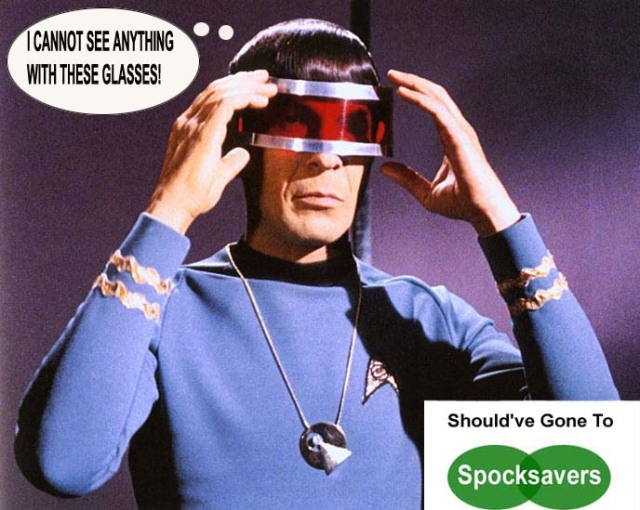 Mr Spock at the Opticians