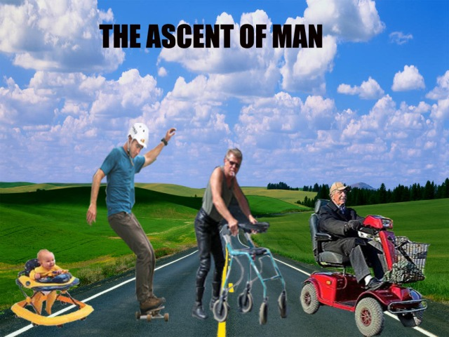 THE ASCENT OF MAN AND WHEELS