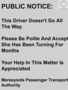 passenger transport notice
