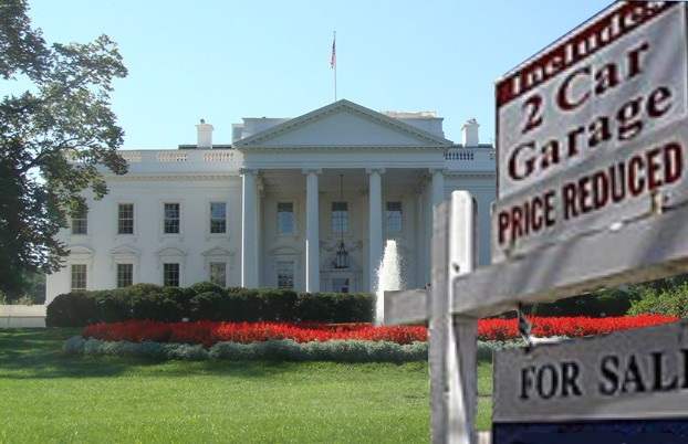 White House For Sale Sign