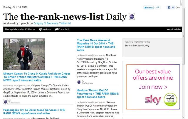 the rank news daily