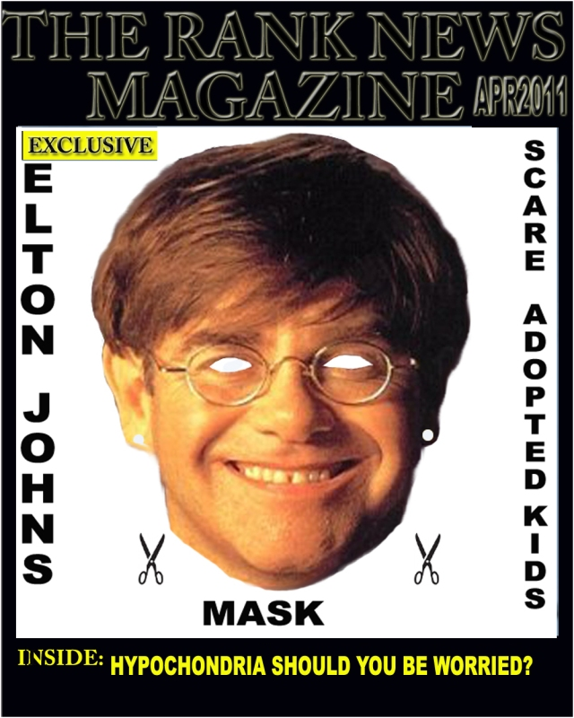 Elton John Face Mask Enough To Scare Anyone